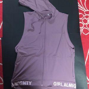 Fabletics Girl Almighty Hooded ZIP Up Vest